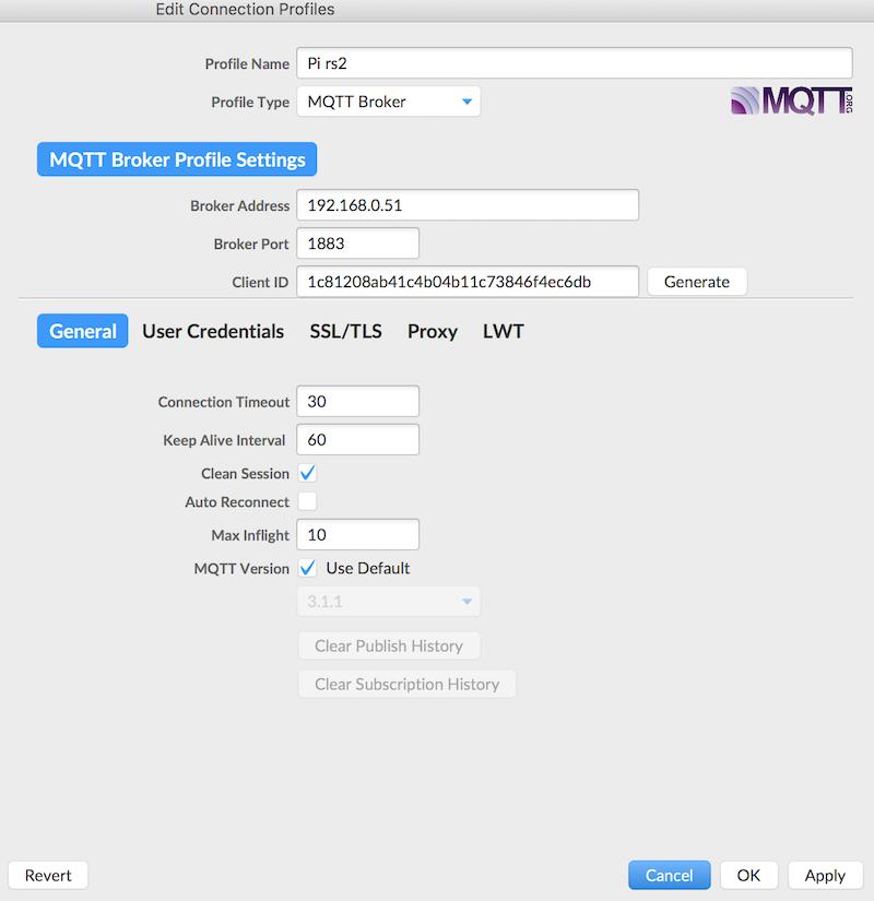 MQTT.fx 設定連線